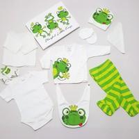 Miniworld 10 Parça Organik Bebek Hastane Çıkışı Yeni Doğan Zıbın Seti Mwk-8830-K