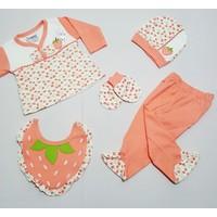 Nenny Baby 5 Parça Organik Kız Bebek Hastane Çıkışı Yeni Doğan Zıbın Seti Ncs5-8835-S