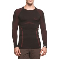 COLLE - Performans Uzun Kollu Termal Sweatshirt Siyah/Kırmızı