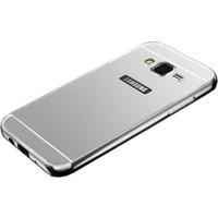 İmpashop Samsung Galaxy J5 Aynalı Kılıf Aynalı Bumper Çerçeve