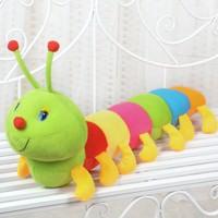 Momz Sevimli Tırtıl Dekorasyon Yastık Peluş Oyuncak 50 cm