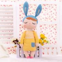 Metoo Angela Peluş Tavşan Mavi Bere Sarı Elbise Sevimli Peluş Oyuncak