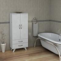 Pegai Nora Uzun 2 Kapak 2 Çekmece Banyo Dolabı Beyaz 13