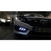 Honda Cıvıc 2016-2017 Fc5 Sis Ledi 3 Çizgili - Sinyalli