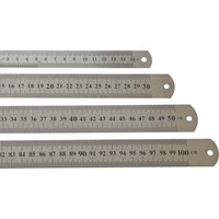 Leo Çift Taraflı Çelik Cetvel 15 Cm (12 Adet)
