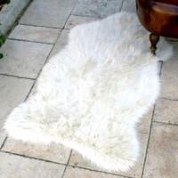 Giz Home Uzun Tüylü Halı 100X150 Beyaz