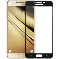 Microsonic Samsung Galaxy C7 3D Kavisli Temperli Cam Ekran koruyucu Kırılmaz Film
