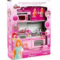 Vardem Oyuncak Mutfak Seti Bulaşık Makinesi Mikrodalga Fırın ve Ocaklı Fırın