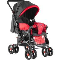 Babyhope 603 Çift Yönlü Bebek Arabasi - Kırmızı