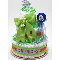 A-Leaf Yeşil Gözlüm 3 Kat Bez Pasta Bebek Bezi Pastası
