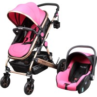 Norfolk Baby Voyage Air Luxury 5 in1 Travel Sistem Bebek Arabası - Pembe