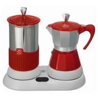 GATPUCCINO Elektrikli Kırmızı Moka Pot 4 Cup