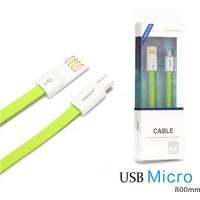 Pisen Mikro Usb 80 Cm Flat Data Ve Şarj Kablosu Samsung Lg Sony Huawei Powerbank İçin İdeal