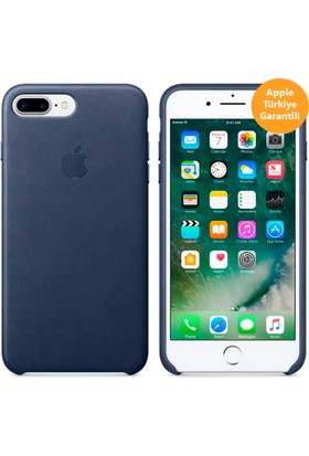 Apple iPhone 8 Plus - iPhone 7 Plus Deri Kılıf - Gece Mavisi - MMYG2ZM/A (Apple Türkiye Garantili)