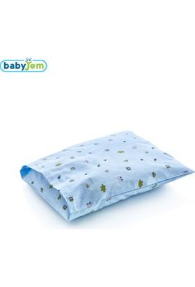 BabyJem Yastık Kılıfı / Mavi Hayvanlı