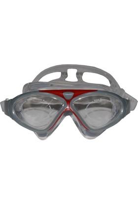 Delta Deluxe Yüzücü Gözlüğü Şeffaf Kırmızı- 8170