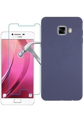 KılıfShop Samsung Galaxy C5 Premier Silikon Kılıf + Ekran Koruyucu