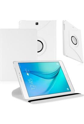 """Nokta Samsung Galaxy Tab A T550 9.7"""" 360° Dönebilen Siyah Standlı Tablet Kılıfı"""