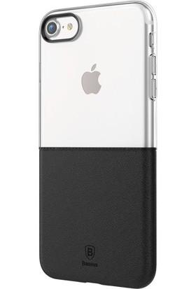 Baseus Apple iPhone 7 Plus Kılıf Baseus Half To Half Serisi Silikon +Cam