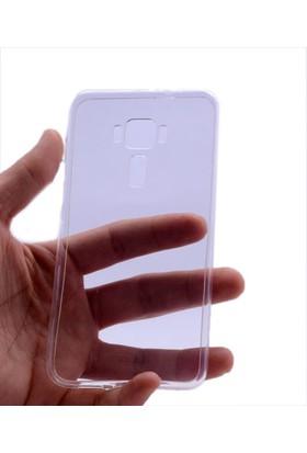 Kny Asus Zenfone 3 Ze552Kl Kılıf Ultra İnce Silikon +Cam