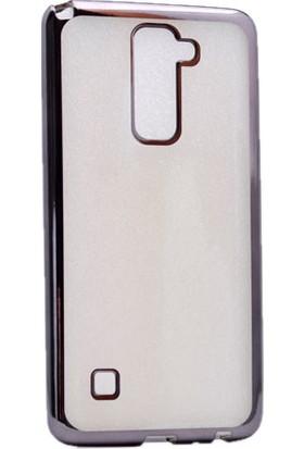 Kny Lg Stylus 2 Kılıf Renkli Kenarlı Silikon +Cam
