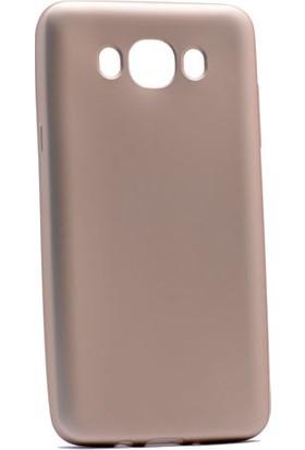 Kny Samsung Galaxy J7 2016 Kılıf Ultra İnce Mat Silikon +Cam