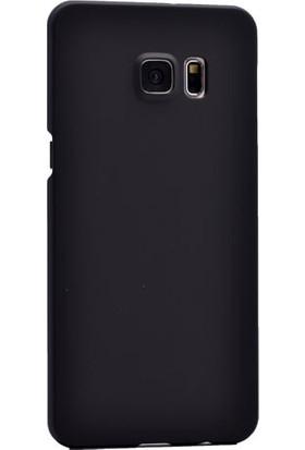 Kny Samsung Galaxy Note 5 Kılıf Ultra İnce Rubber +Cam