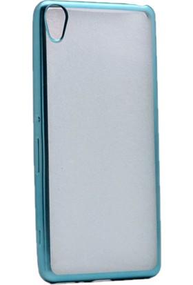 Kny Sony Xperia X Kılıf Renkli Kenarlı Silikon