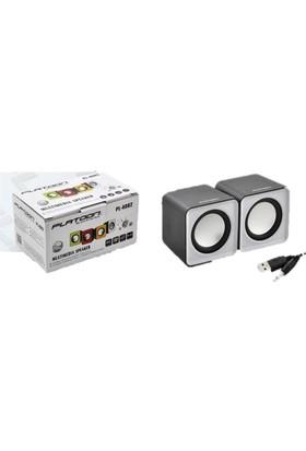 Platoon Pl-4082 Usb Mini Hoparlör Speaker 1+1 Yüksek Ses Sistemi
