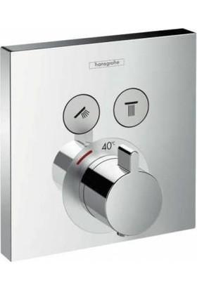 Hansgrohe Shower Tablet Termostat Ankastre İki Çıkışlı