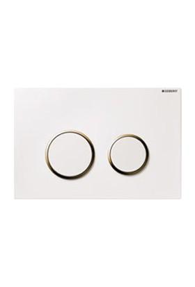 Geberit Kumanda Kapağı Sigma20 - Çift Basmalı Beyaz Altın Beyaz
