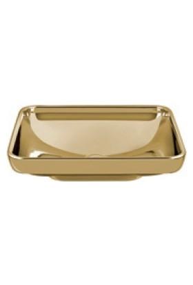 Vitra Water Jewels Dikdörtgen Tezgah Üstü Lavabo 60 Cm Altın