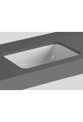 Vitra S20 Tezgah Altı Lavabo 43 Cm Armatür Deliksiz Su Taşma Delikli