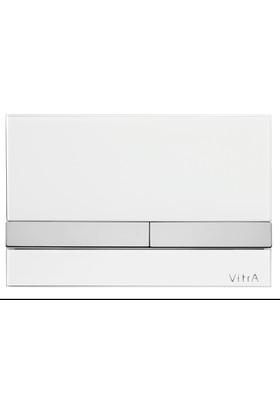 VitrA Select Kumanda Paneli-Cam Beyaz - Krom Buton