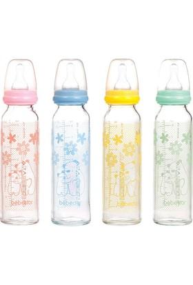 Bebedor Isıya Dayanıklı Cam Biberon 250 ml (Asortili)