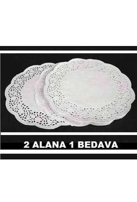 Elimoni Kağıt Çay Bardağı Altlığı Dantelli Kağıt 500 Adet 2 Alana 1 Bedava
