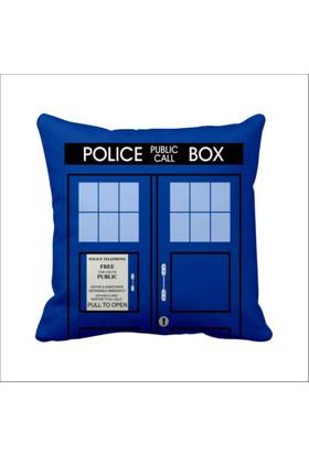 Asr Dr. Who Doctor Doktor Tardis Saten Yastık