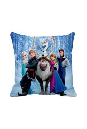 Asr Frozen Karlar Ülkesi Anna Elsa Olaf Aile Saten Yastık