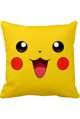 Asr Pikachu Pikaçu Pokemon Go Saten Yastık