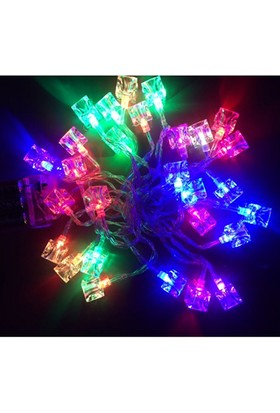KullanAtMarket Yılbaşı Küp Led Renkli Işık