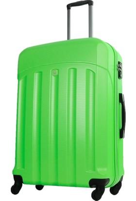 Benetton Büyük Boy Yeşil Sert Valiz 0179