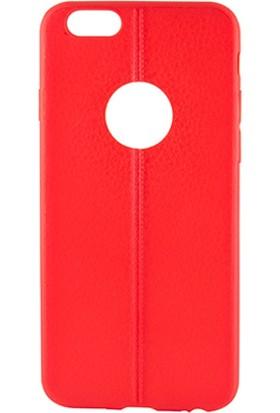 Sunix Apple iPhone 6 - 6S Dikişli Silikon Kılıf Kırmızı
