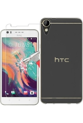 KılıfShop HTC Desire 10 Lifestyle Silikon 0.2mm Kılıf + Ekran Koruyucu