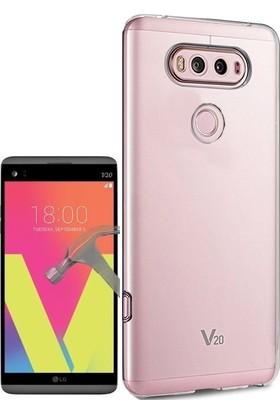 KılıfShop LG V20 Tam Koruma Silikon Kılıf + Ekran Koruyucu
