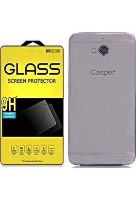 KılıfShop Casper Via A1 İnce Silikon Kılıf + Ekran Koruyucu