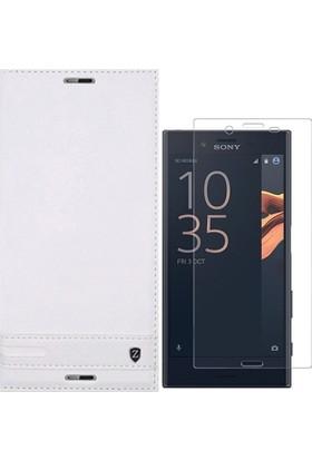 KılıfShop Sony Xperia XZ Kapaklı Mıknatıslı Kılıf + Nano Ekran Koruyucu