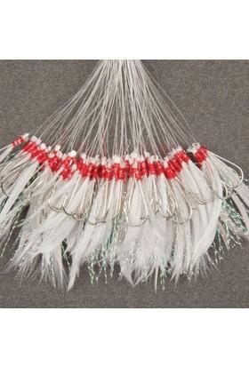 Abari B05 Ördek Tüyü Çinekop Çapari Kösteği Beyaz 100ad 7 No Siyah İğne