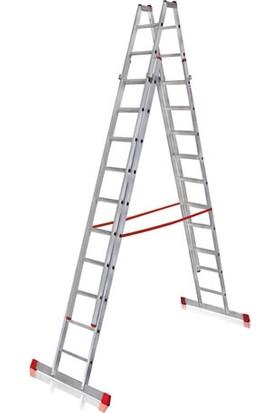 CÖMERT Merdiven A Tip Çift Sürgü 2,5 Mt(Atcsm.02) (2,5*4+2=12 Mt)