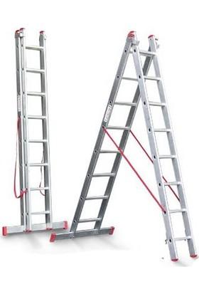 CÖMERT Merdiven A Tipi 2 Parçalı Sat 4 Mt.(Satm.05) (2*4+1=9 Mt)