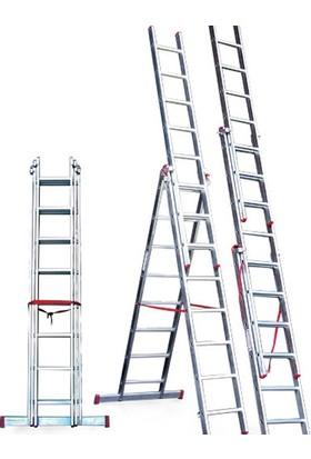 CÖMERT Merdiven A Tipi 3 Parçalı Sat 2 Mt.(Satm.09) (2*3+1=7 Mt)